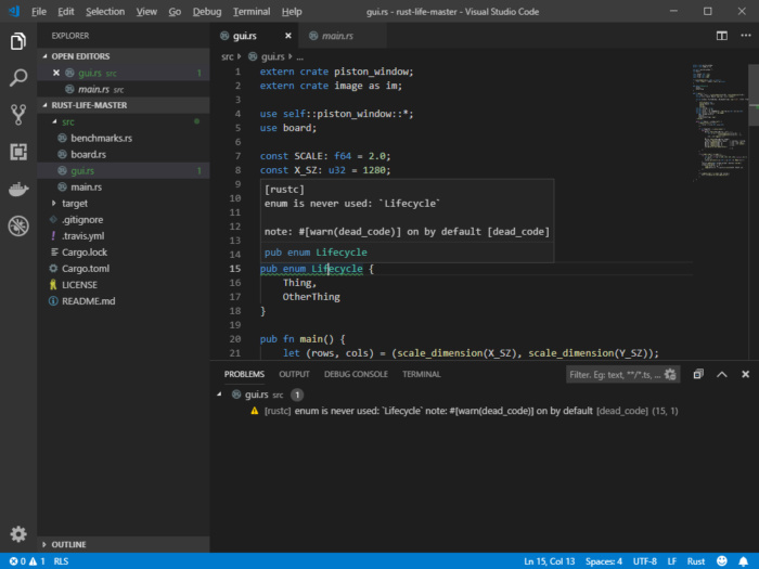 rust visual studio code